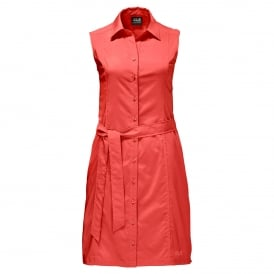 Ladies Sonora Dress Hot Coral