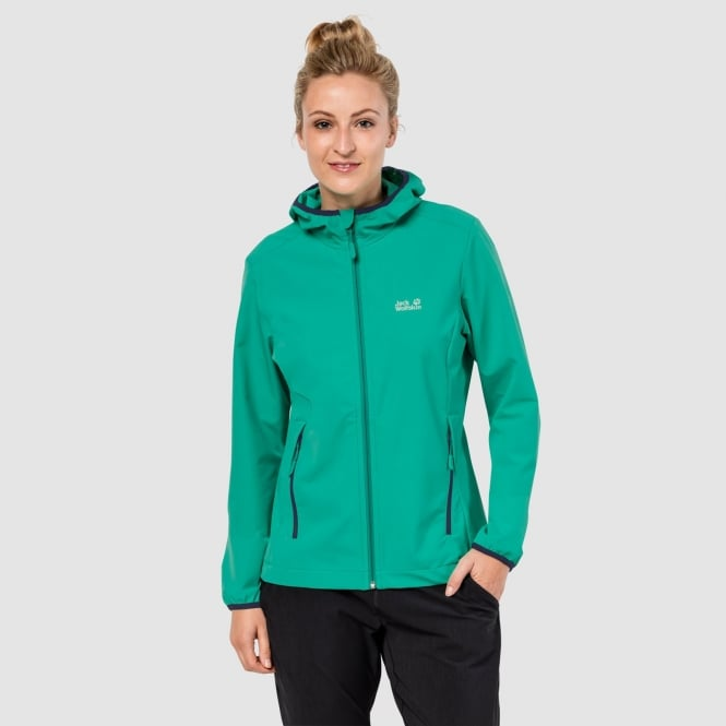 95542a56817b Jack Wolfskin Ladies Turbulence Softshell Jacket Deep Mint - Ladies ...