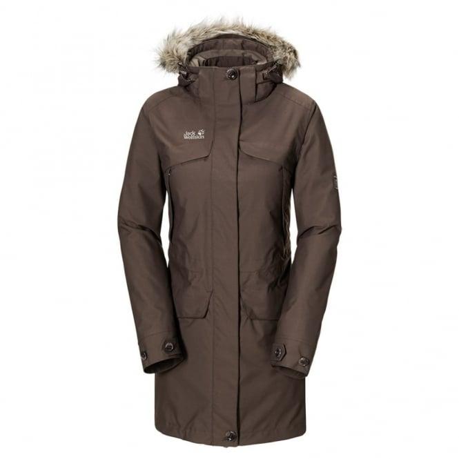 wholesale dealer f3bec ccd13 Jack Wolfskin Ladies White Rock 3-1 Jacket Mocca