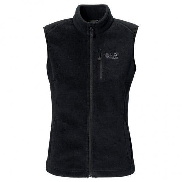 Free Weights Winnipeg: Jack Wolfskin Ladies Winnipeg Fleece Vest Black