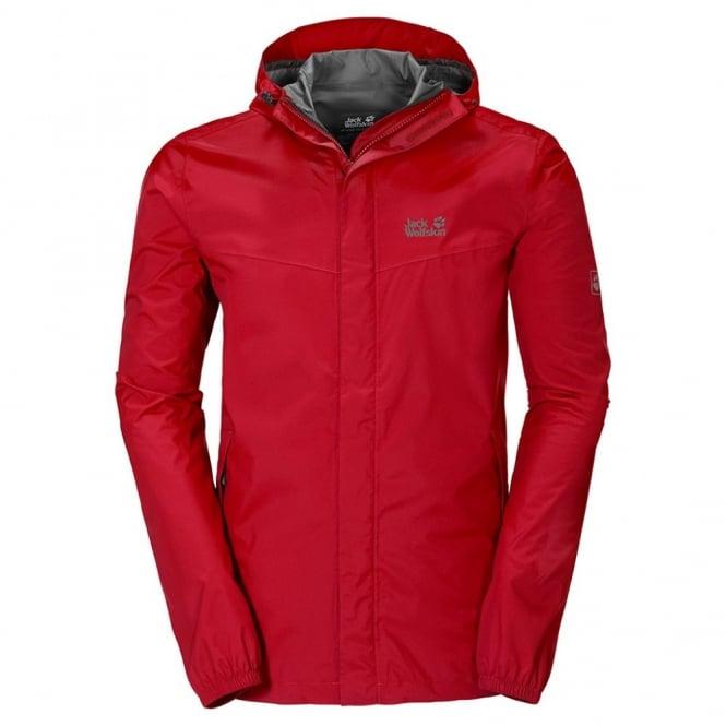 869ea598f23 Jack Wolfskin Mens Cloudburst Jacket Red Fire - Mens from Great ...