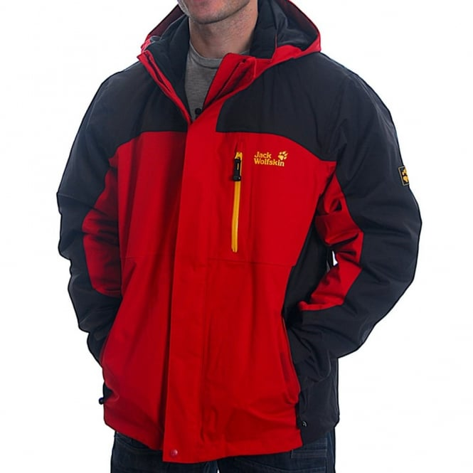 jack wolfskin mens indian red cold trail jacket. Black Bedroom Furniture Sets. Home Design Ideas