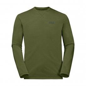 e80ced1fe2 Mens Crosstrail Long Sleeve T-Shirt Cypress Green New. Jack Wolfskin ...