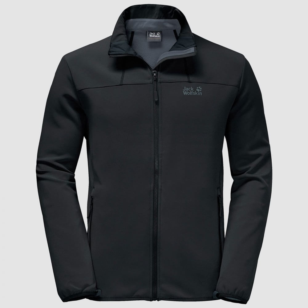 79e607138eb Jack Wolfskin Mens Element Altis Softshell Jacket Black - Mens from ...
