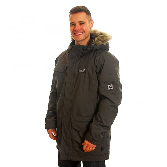 Jack wolfskin fairbanks parka shadow black
