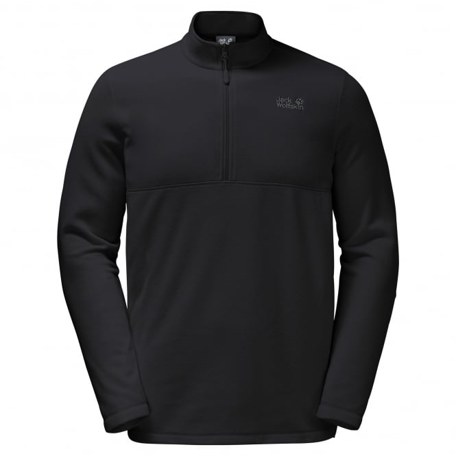 Jack Wolfskin Mens Gecko Overhead Fleece Black