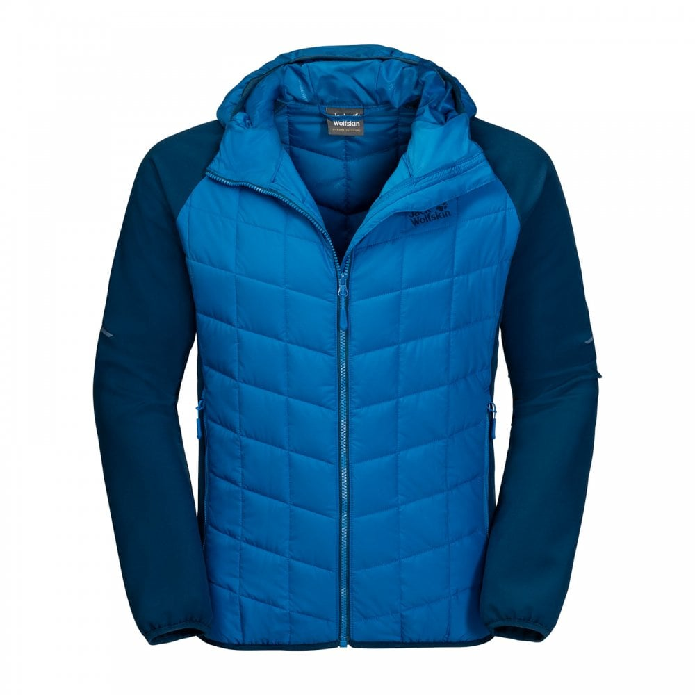 Mens Grassland Hybrid Hooded Electric Blue