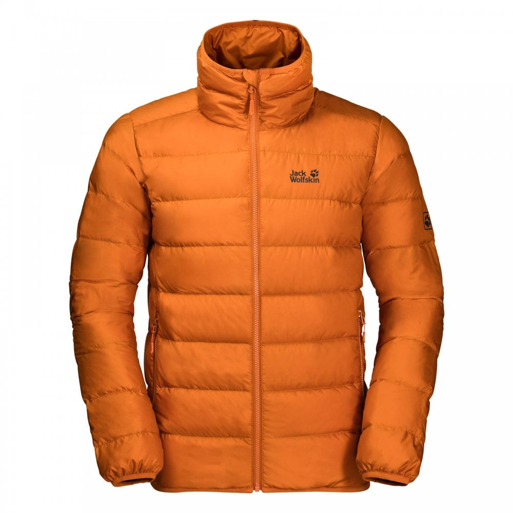 5a3e0515dbb Jack Wolfskin Mens Helium High Jacket Orange - Mens from Great ...