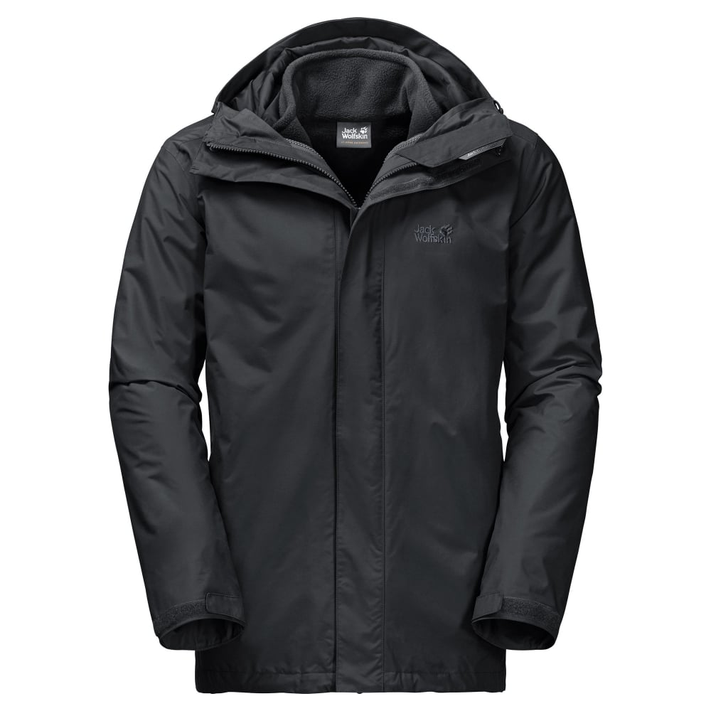 bf9f8619287 Jack Wolfskin Mens Iceland 3in1 Jacket Black - Mens from Great ...