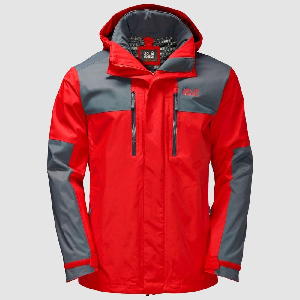 3e3c7949484 Jack Wolfskin Mens Jasper Flex Jacket Fiery Red - Mens from Great ...