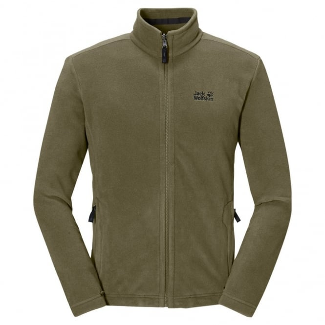 online store 4eb8a db695 Jack Wolfskin Mens Moonrise Fleece Jacket Burnt Olive