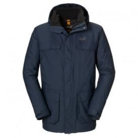 Mens North Bay Parka Night Blue