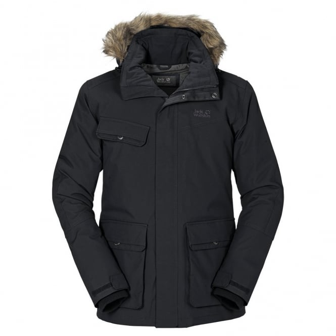 9893afb9038 Jack Wolfskin Mens Nova Scotia II Jacket Black - Mens from Great ...