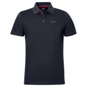 Mens Pique Function Polo Night Blue