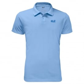 Mens Pique Polo T-Shirt Cool Water