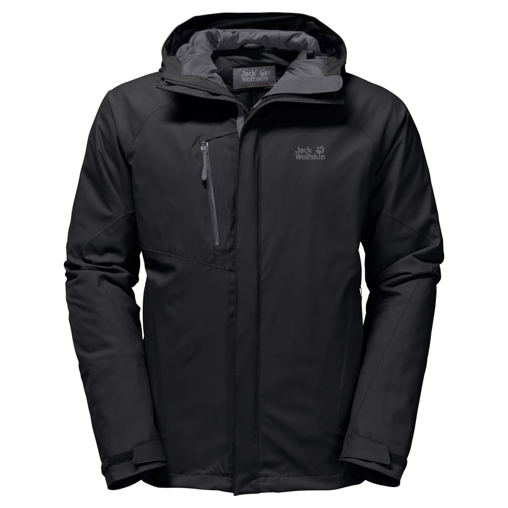 f8bbc868c3f Jack Wolfskin Mens Troposphere Insulated Jacket Black - Mens from ...