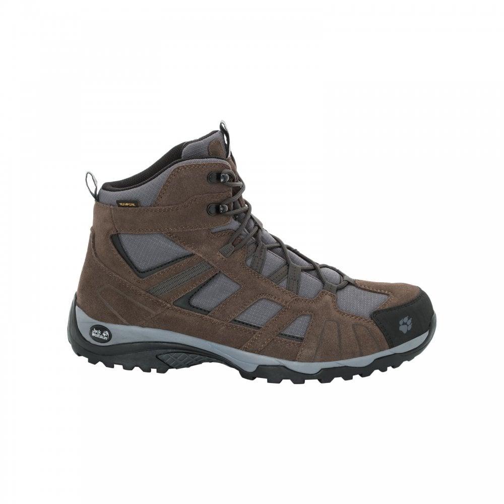 a37d5956a19 Jack Wolfskin Mens Vojo Hike Texapore Mid Boot Dark Wood - Footwear ...