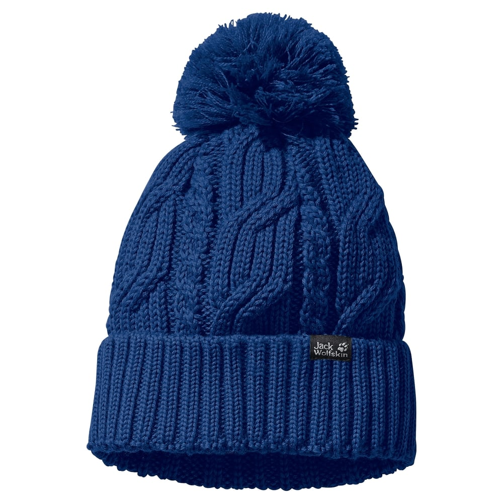 Jack Wolfskin Stormlock Pom Pom Hat Royal Blue - Mens from Great ... 63e2121c544