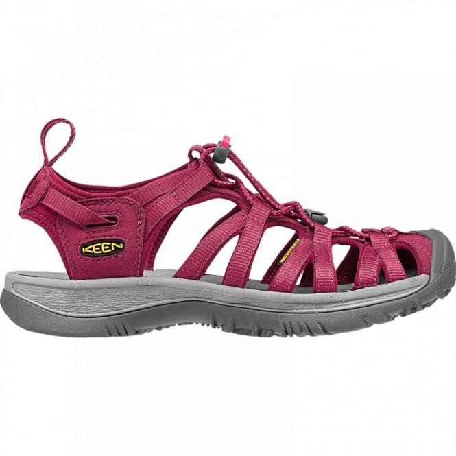 Keen Ladies Whisper Sandal Beet Red - Footwear from Great Outdoors UK