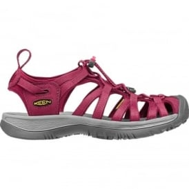Whisper W Sandal - Beet Red