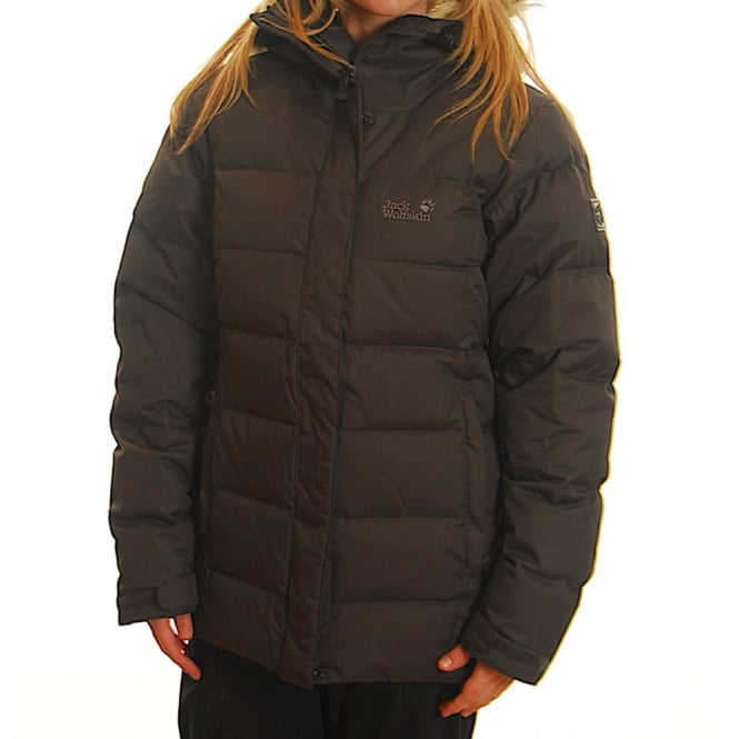 Ladies Baffin Jack Black Shadow Wolfskin Jacket Nyvm80wOPn