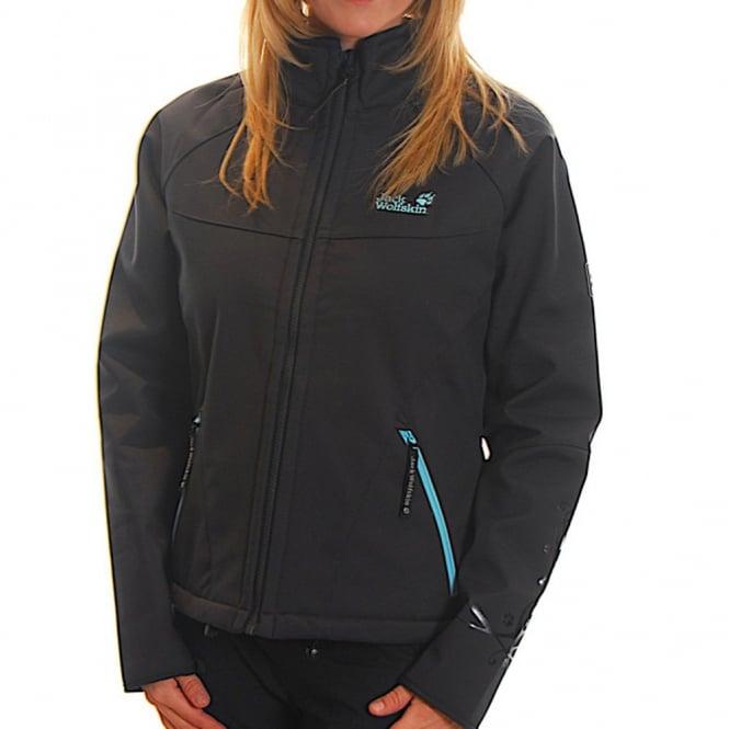 Jack Wolfskin Ladies Icedancer Softshell Jacket Blue Graphite