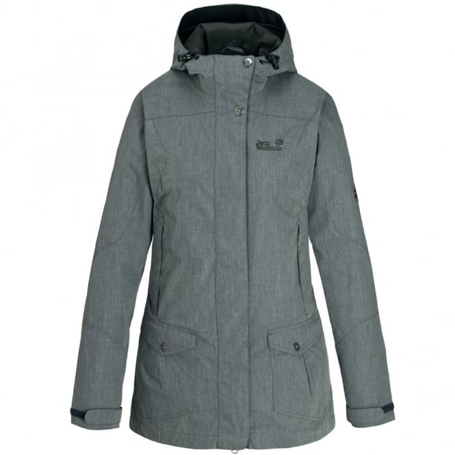 Jack Wolfskin Ladies Paradise Hill Parka Jacket Grey Heather