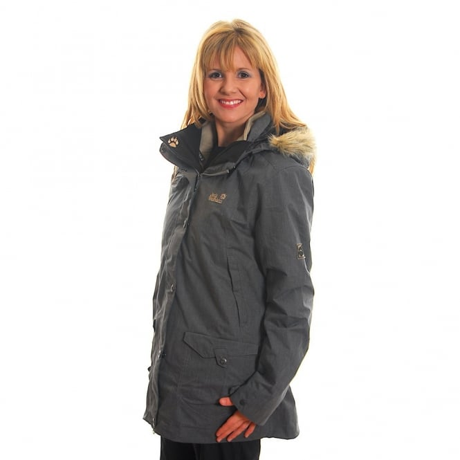 Jack Wolfskin Ladies Wave Hill Parka Grey Heather - Ladies from ...