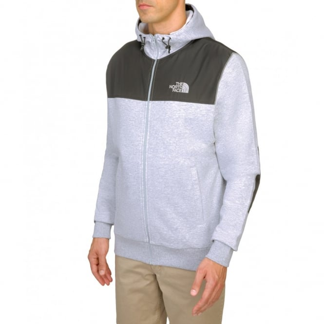 8b64a6a9d The North Face Mens Heritage Mountain Full Zip Hoody Heather Grey