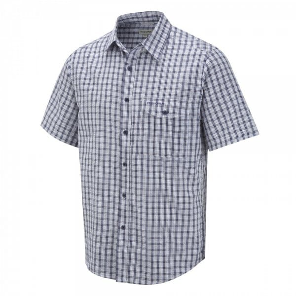 Craghoppers mens seersucker short sleeve shirt faded for Mens seersucker shirts on sale