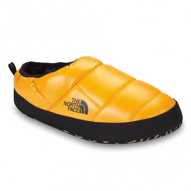 north face slippers mens orange