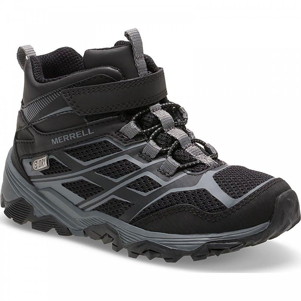 7d061e1f58f Merrell Kids Moab FST Mid Boot Black