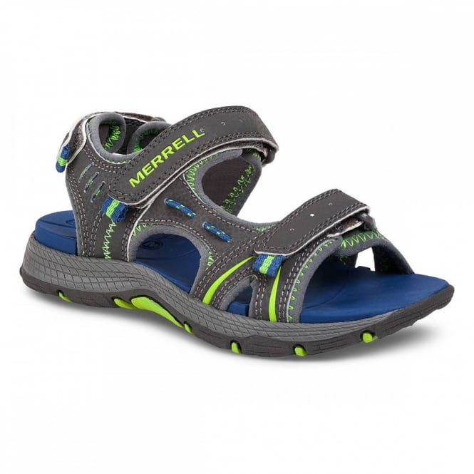 3bb68bbf8416 Merrell Kids Panther Sandal Grey Blue - Footwear from Great Outdoors UK