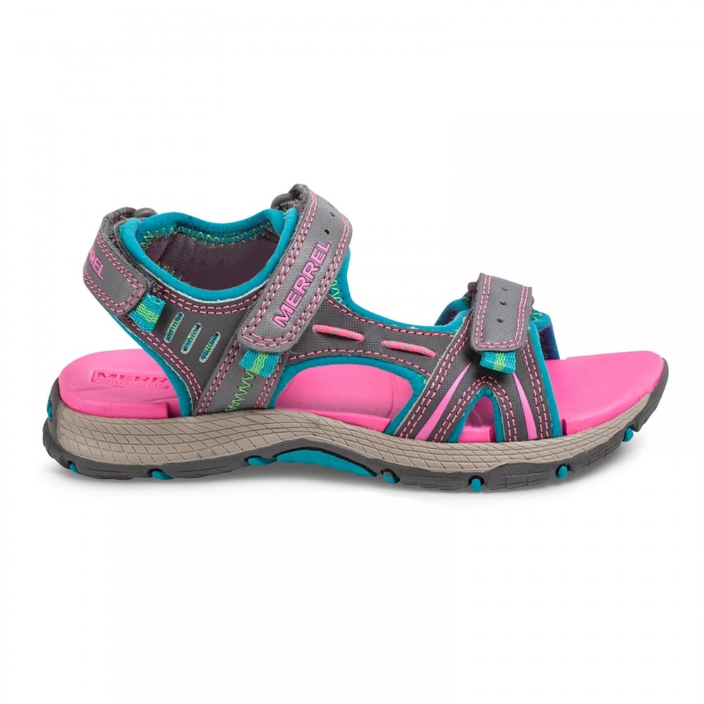 dffb87dea5ec Merrell Kids Panther Sandal Grey Turquoise - Footwear from Great ...