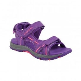 Kids Panther Sandal Purple