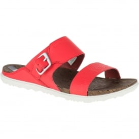 Ladies Around Town Buckle Sandal Fiery Red