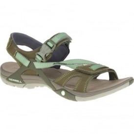 Ladies Azura Strap Sandal Medium Green