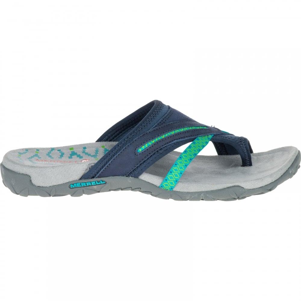 d3a655e9f24c Merrell Ladies Terran Post II Sandal Navy - Footwear from Great ...