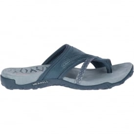 Ladies Terran Post II Sandal Slate Black