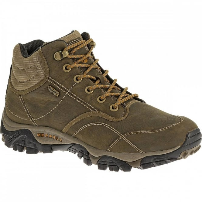 Merrell Mens Moab Rover Mid Boot Kangaroo Footwear From