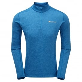 Mens Dart Long Sleeve Zip T-Shirt Electric Blue