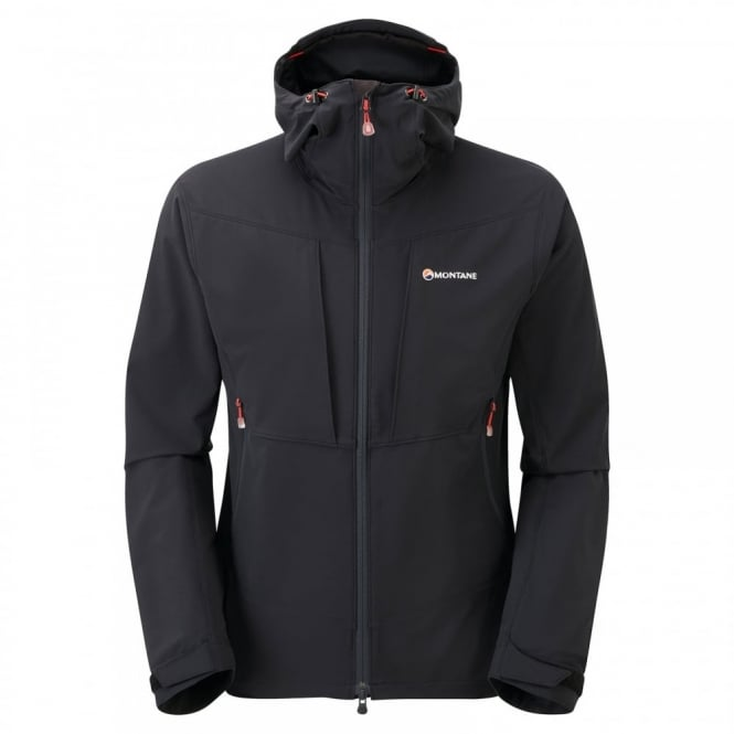 Montane Mens Dyno Stretch Jacket Black/Red