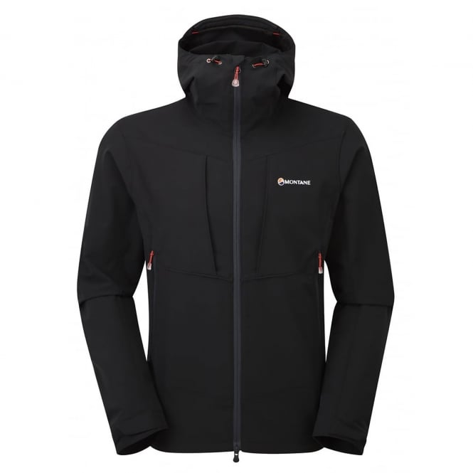 Montane Mens Dyno Stretch Shell Jacket Black/Red