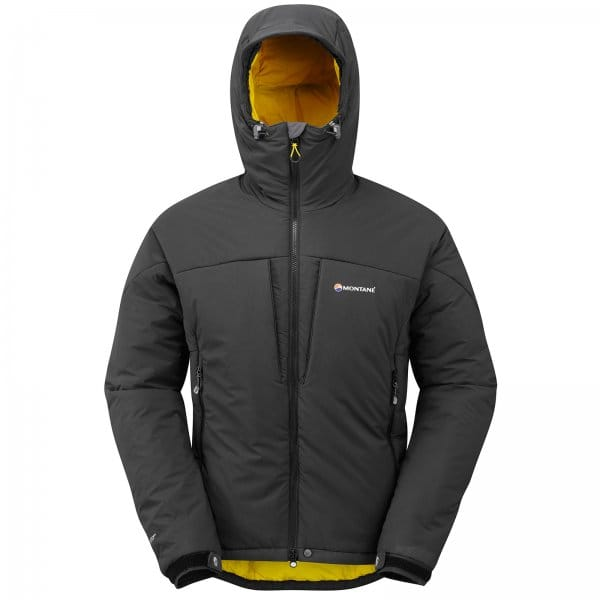 Montane Mens Ice Guide Jacket Black/Yellow - Mens from ...