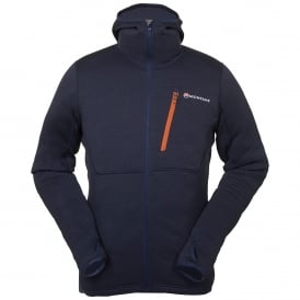 Mens Power Up Softshell Hoodie Antartic Blue