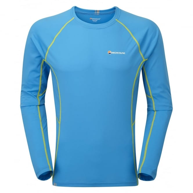 Montane Mens Sonic Long Sleeve T-Shirt Blue Spark
