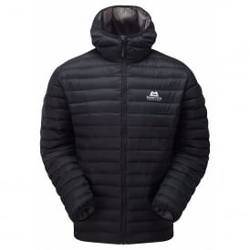 Mens Arete Hooded Jacket Black