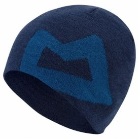 Mens Branded Knitted Beanie Marine