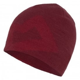 Mens Branded Knitted Beanie Red