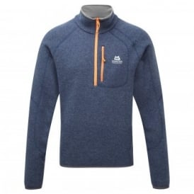 Mens Chamonix Zip Fleece Top Navy